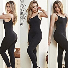 Bodysuit New Women Condole Belt Sports Clubwear Party Bandage Long Jumpsuits
