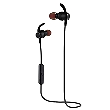 S11 Bluetooth Wireless Music In Ear Earphone High Quality Fashion Earphone Earhook Headphones(Black)