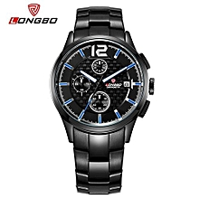 Watches, 80178 Luxury Brand Sports Men Wristwatches Army Quartz Stainless Steel Band Date Calendar Waterproof Watch - Black