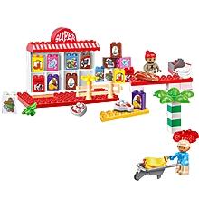 Niniya Supermarket Plastic Toy Building Blocks with Suitcase Educational Toys-