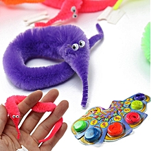 6PCS Magic Twisty Fuzzy Worm Wiggle Moving Sea Horse Kids Trick Toy Six Color-