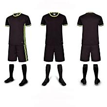 Customized Youth Men's Football Soccer Team Sports Shirts Shorts Jersey-Black(6109)