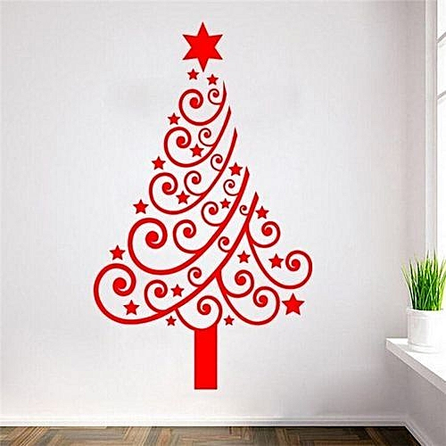 generic 42*60cm merry christmas tree wall stickers decorations top
