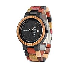 Luxury Designer Auto Date Colors Wooden Watche for Men
