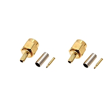 2PCS SMA Male 50-1.5 RF connector For RG174 RG316 LMR100 Cable -