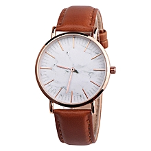 Fashion Couple Retro Bird Design Leather Band Analog Alloy Quartz Wrist Watch