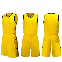 Children Youth Boy And Men's Customized Men's Basketball Team Sport Jersey Uniform-Yellow(YW-1723)
