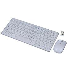 SMART TV Wireless mini Keyboard & Mouse Combo - White