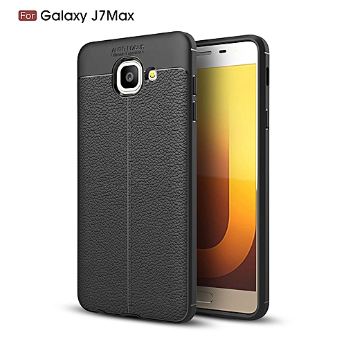 official photos 0ae25 adb7d PU Leather Litchi Pattern Case For Samsung Galaxy J7 Max G615 G615F Soft  TPU Silicone Back Cover For Samsung J7Max Phone Case (Black)