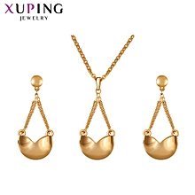 Xuping  environmental friendly copper alloy  jewelry set-Gold