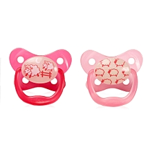 Prevent Glow in the Dark Butterfly Shield Pacifier Stage 1 (0-6m) – Pink