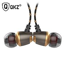 Earphone QKZ DM11 Magnetic Noise Cancelling Headsets DJ s HiFi Ear Phone Stereo BASS Metal PRI-P