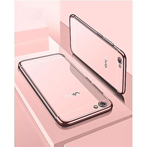 new concept f5386 e0dd1 For VIVO Y65 Soft Case Transparent Plating Shining Cover For Vivo Y65  Casing Antioxidant Housing