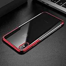 Baseus Luxury Plating Soft Silicone Case For iPhone Xs Xs Max XR Ultra Thin TPU Protective Case For iPhone Xs Xs Max 2018 Cover (Red-iPhone Xs Max) MQSHOP