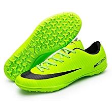 Best Sale World Cup Children Kids Boy And Men Women's Football Soccer Sports Shoes-Green