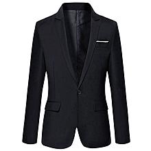 Men's Slim Fit Blazer - Black