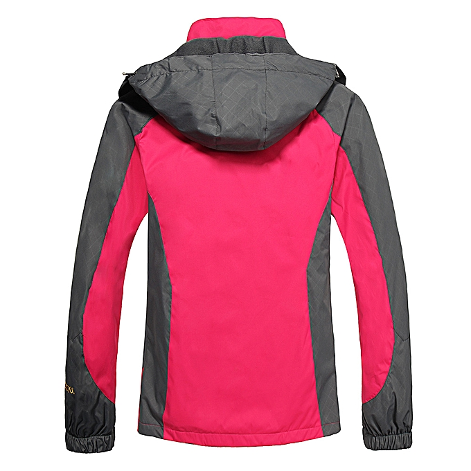 9e93d36b267 ... Lixada Waterproof Jacket Windproof Raincoat Sportswear Outdoor Hiking  Traveling Cycling Sports Detachable Hooded Coat for Women ...