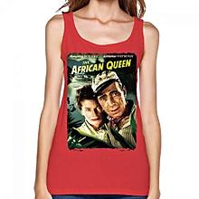 The African Queen Women's Print Vest Tank Tops Red