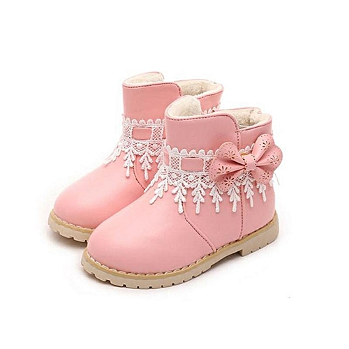 9efc7ab1c1b6 Fashion Waterproof Baby Kids Girls Children Lace Snow Ankle Boots Casual  Princess Shoes-EU