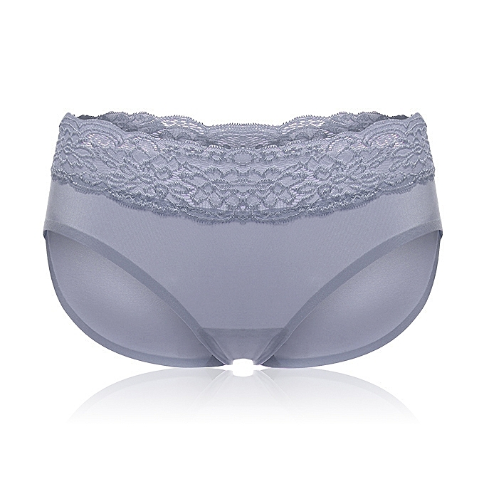 16fe9e3257 Fashion Sexy Lace Seamless Mid Waist Trainer Panties Underwear Women ...