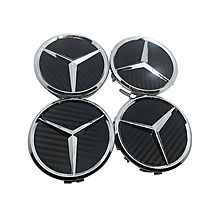 4x 75mm Carbon Fiber Auto Car Wheel Center Hub Cap Emblem Badge for Benz