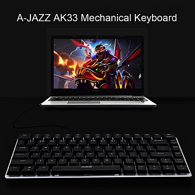 31d449b67af ... AJAZZ AK33 Linear Action Mechanical Keyboard Gaming E-sport Keyboard 82 Keys  USB Wired Anti