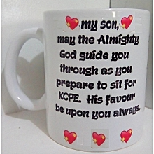 K.C.S.E Exam Wishes Mug - White