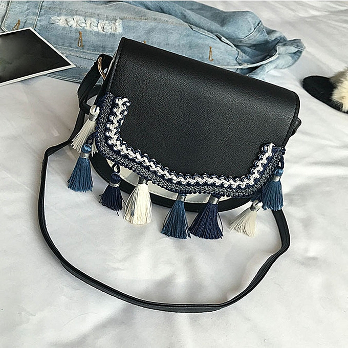 Tectores Fashion Trend Women Family Style Bag Handbags Tote Over Shoulder  Crossbody Tassel  Generic Tectores Fashion Trend Ladies Print ... 936b609b625a9