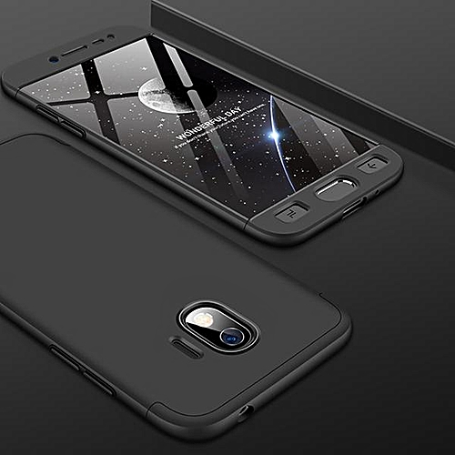 new products fb13c d4170 360 Degree 3 In 1 Full Body Protection Cover Case For Samsung Galaxy J2 Pro  2018 Hard PC Shell Case (Black)