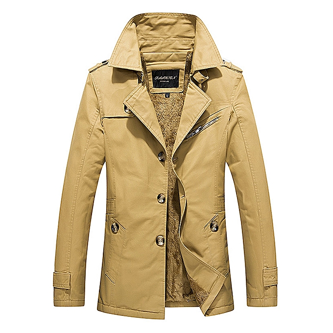 Fashion Thick Warm Slim Stylish Mid Long Fall Winter Trench Coats
