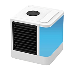 CO Mini Air Conditioner Cooler with LED Lights USB Humidifier Purifier-white & blue