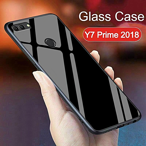 promo code 3decd 1ad20 Glass Case For Huawei Y7 Prime 2018 Cover Full Protection Tempered Glass  Back Cover Casing For Huawei Y7 Prime 2018 Housing