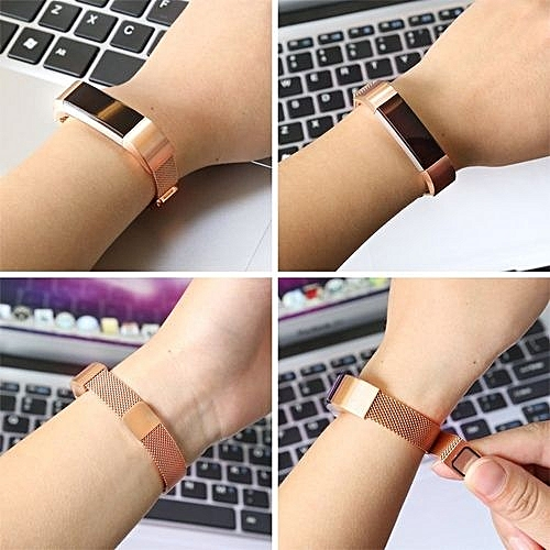 ad8e533cc65 Generic Adjustable Metal Wristband Band Strap With Magnetic Closure Clasp  For Fitbit Alta   Fitbit Alta HR Fitness Tracker - Gold
