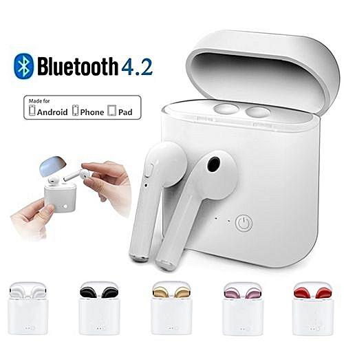 dfcfcca6680 Generic HBQ i7 TWS Twins Wireless Earbuds Mini Bluetooth Earphones Music  Headphone With Charging Box