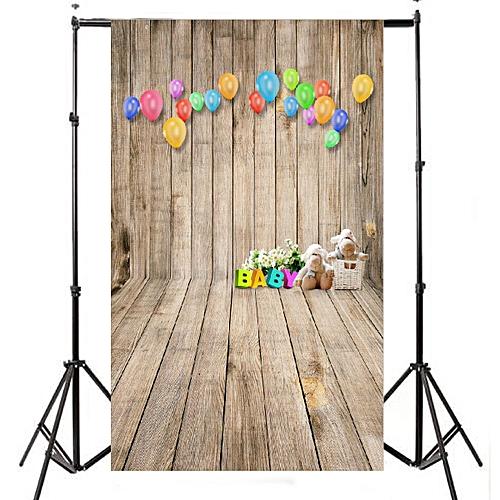 Buy Universal 3x5ft Balloon Bear Wood Floor Photography Background