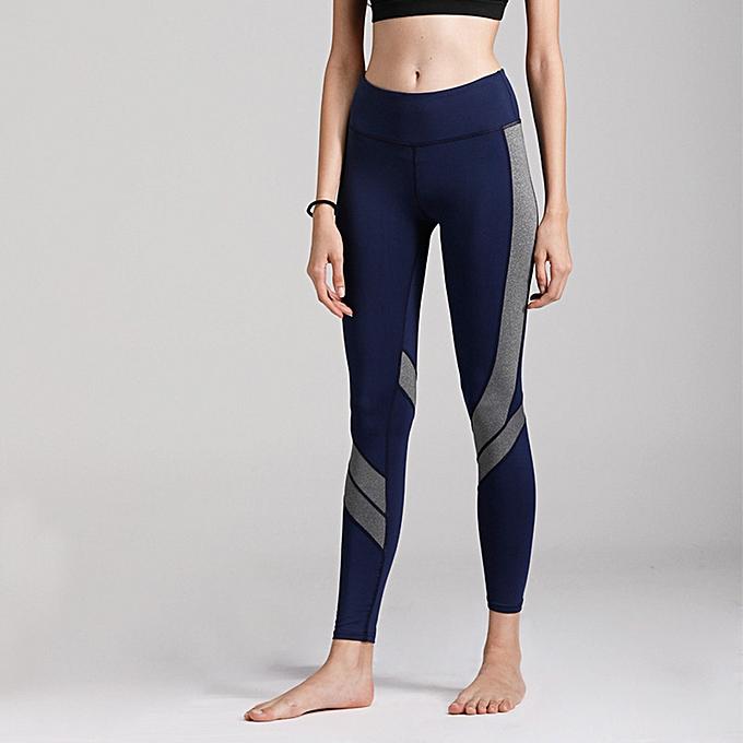 388b359fc5788 Women Sports Yoga Pants Leggings Color Block Gym Fitness Workout Tights  Trousers Skinny Leggings Brown