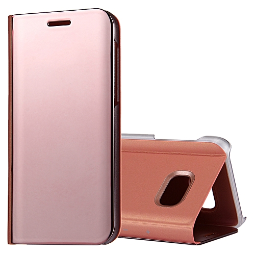 For Samsung Galaxy A5 2017 A520 Electroplating Mirror Horizontal Flip Leather Case With Holderrose Gold