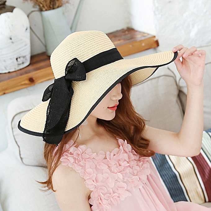 9e5d4c2112f14 1Big butterfly-rice Huang Hei BianThe sun protection Han Ban Xin s style of straw  hat