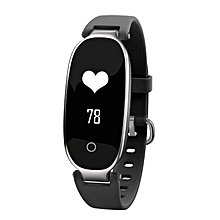 S3 Elegant Waterproof Bluetooth Smart Watch Heart Rate Monitor Fitness Tracker gun black