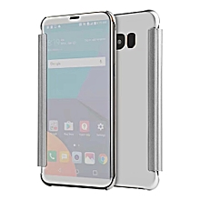 Clear View Mirror Smart Flip Phone Case For Samsung Galaxy C5 Pro Shockproof Full Protective Back Cover PU Leather 136665 c-0 (Color:Main Picture)
