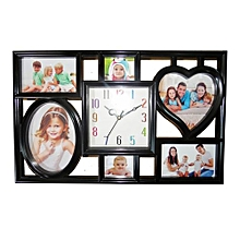 Picture Frame Wall Clock - Black