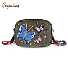 Guapabien Embroidery Shoulder Crossbody Bag for Women