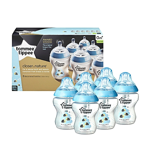 Buy Tommee Tippee Closer To Nature Decorated Blue Bees Boy Baby Interesting Decorated Baby Bottles