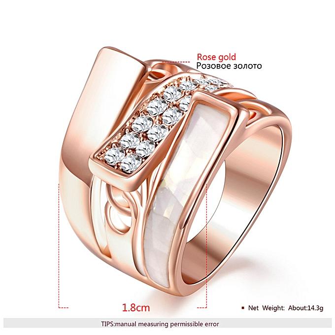 a7e7059cd98 ROXI new fashion rose gold inlaid diamond drop oil ring girls jewelry  platform-Rose gold