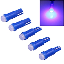 5 PCS T5 0.5W 20LM Blue Light 1 LED COB LED Instrument Light Bulb Dashboard Light for Vehicles, DC 12V(Blue)