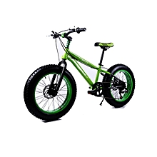 "16"" 7 Speed Green Fat Tire Mountain Bike"