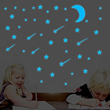 Moon Stars Meteor Wall Stickers Luminous Fluorescent Glow In The Dark Stars On The Ceiling Glass Bedroom Home Decor