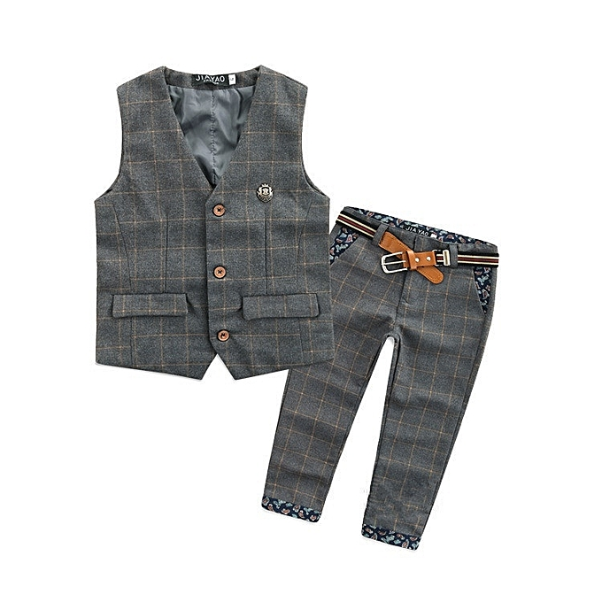 96cb9bd0b2f1 Fashion 2016 Children Baby Boy Blazer Clothes Set Plaid Vest Pants Suits  for Wedding Kids Toddler Tuxedo Suit Boys Vest Formal Clothing