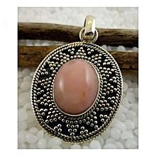 925'Sterling Silver with Rhodochrosite Gemstone Pendant
