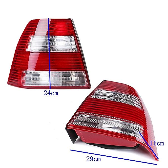 Pair Rear Red Tail Lights Brake Lamp For Vw Jetta Bora Mk4 Iv Sedan 1999